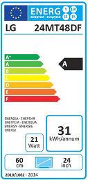LG 24MT48DF Etiquette énergétique