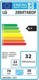 LG 28MT48DF Etiquette énergétique