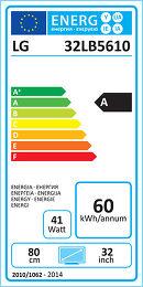 LG 32LB5610 Etiquette énergétique