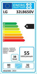 LG 32LB650V Etiquette énergétique