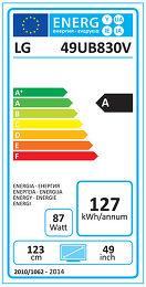 LG 49UB830V Etiquette énergétique