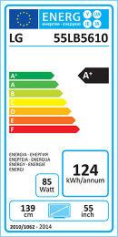 LG 55LB5610 Etiquette énergétique