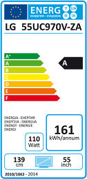 LG 55UC970V Etiquette énergétique