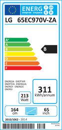 LG 65EC970V Etiquette énergétique