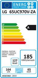 LG 65UC970V Etiquette énergétique
