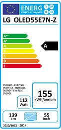 LG OLED55E7N Etiquette énergétique