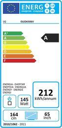 LG OLED65B6V Etiquette énergétique