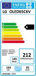LG OLED65C6V Etiquette énergétique