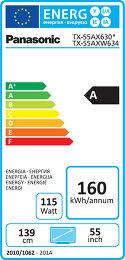 Panasonic TX-55AX630E Etiquette énergétique