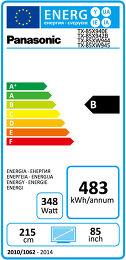 Panasonic TX-85X940E Etiquette énergétique