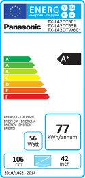 Panasonic TX-L42DT60E Etiquette énergétique