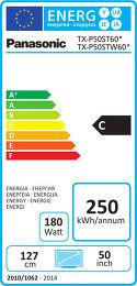 Panasonic TX-P50ST60E Etiquette énergétique