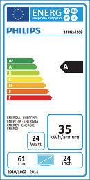 Philips 24PHH4109 Etiquette énergétique