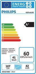 Philips 42PFH6109 Etiquette énergétique