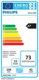 Philips 42PUS7809 Etiquette énergétique
