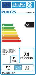 Philips 47PFH5209 Etiquette énergétique