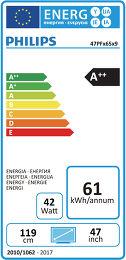 Philips 47PFK6549 Etiquette énergétique