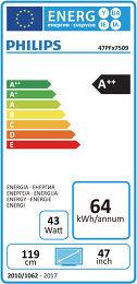 Philips 47PFK7509 Etiquette énergétique