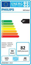 Philips 48PFS8109 Etiquette énergétique
