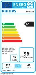 Philips 49PUS7809 Etiquette énergétique