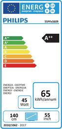 Philips 55PFH5609 Etiquette énergétique