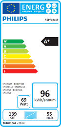 Philips 55PFS8159 Etiquette énergétique