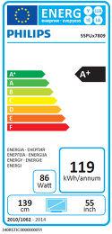 Philips 55PUS7809 Etiquette énergétique