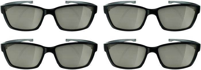 Philips 55PUS7909 : 4 paires de lunettes 3D