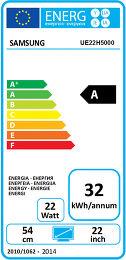 Samsung UE22H5000 Etiquette énergétique