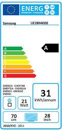 Samsung UE28H4000 Etiquette énergétique