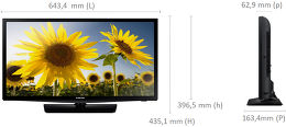 Samsung UE28H4000 Vue schéma dimensions
