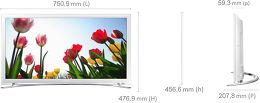Samsung UE32H4510 Vue schéma dimensions