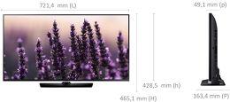 Samsung UE32H5500 Vue schéma dimensions