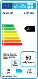 Samsung UE32H6200 Etiquette énergétique