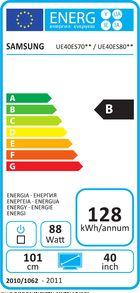 Samsung UE-40ES7000 Etiquette énergétique