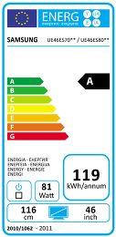 Samsung UE-46ES8000 Etiquette énergétique