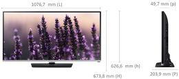 Samsung UE48H5000 Vue schéma dimensions