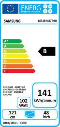 Samsung UE48HU7500 Etiquette énergétique