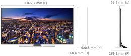 Samsung UE48HU7500 Vue schéma dimensions