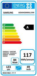 Samsung UE49KS9000 Etiquette énergétique