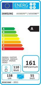 Samsung UE-55ES7000 Etiquette énergétique