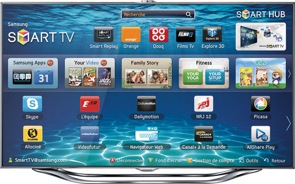 Samsung UE-55ES8000 Vue principale