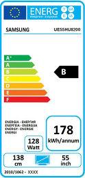 Samsung UE55HU8200 Etiquette énergétique