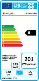 Samsung UE55HU8500 Etiquette énergétique