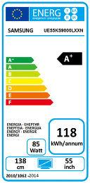Samsung UE55KS9000 Etiquette énergétique