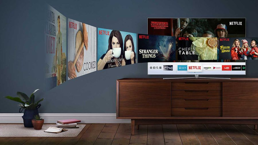 Samsung QLED : Smart TV, Netflix, Youtube, Amazon Vidéo, Deezer, Spotify