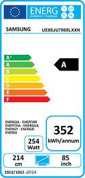 Samsung UE85JU7000 Etiquette énergétique