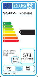 Sony KD-100ZD9B Etiquette énergétique