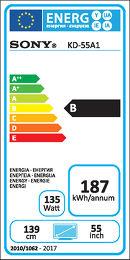 Sony KD-55A1 Etiquette énergétique