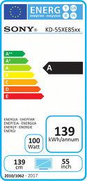 Sony KD-55XE8505B Etiquette énergétique